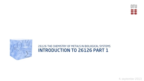 Thumbnail for entry Introduction to 26126 Part 1