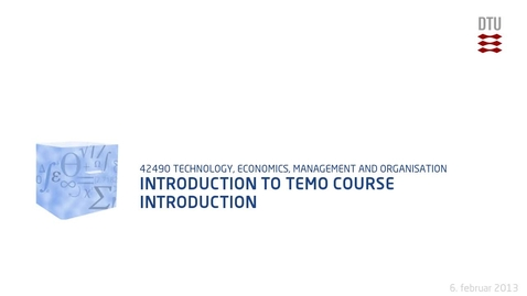 Thumbnail for entry Introduction To Temo Course Introduction