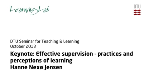 Thumbnail for entry Keynote: Effective supervision - practices and perceptions of learning #2