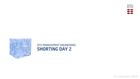 Thumbnail for entry Shorting Day 2