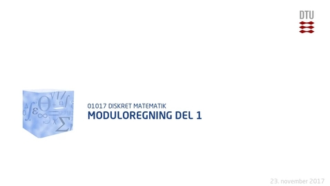 Thumbnail for entry Moduloregning del 1