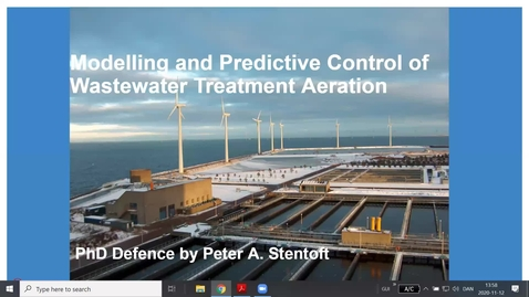 Thumbnail for entry Stochastic Predictive Control of Wastewater Treatment Processes, PhD defense by Peter Stentofte
