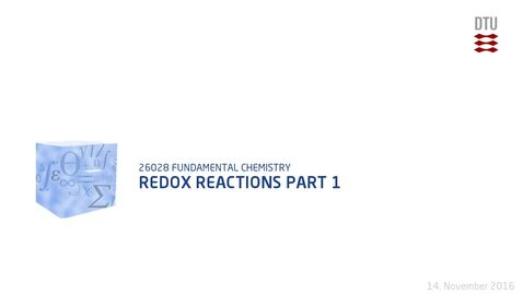 Thumbnail for entry Chapter 19: Redox reactions Part 1