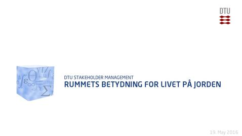 Thumbnail for entry Rummets betydning for livet på Jorden