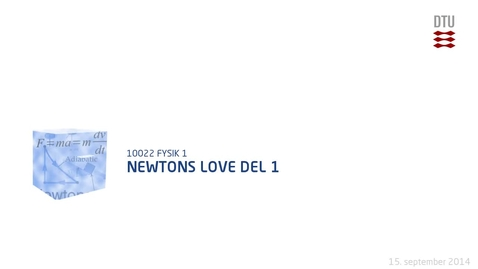 Thumbnail for entry Newtons love Del 1