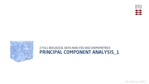 Thumbnail for entry Principal Component Analysis_1