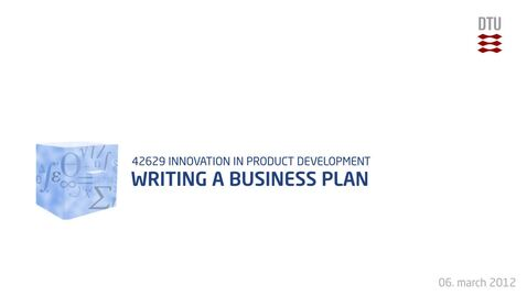 Thumbnail for entry 06-1/3: Writing a Business Plan