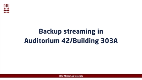 Thumbnail for entry Aud 42 backup streaming