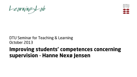 Thumbnail for entry Improving students' competences concerning supervision #3
