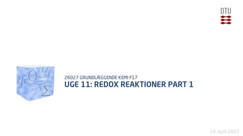 Thumbnail for entry Uge 11: Redox Reaktioner Part 1