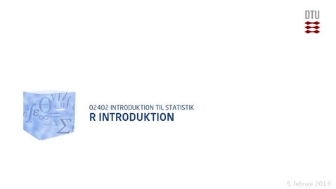 Thumbnail for entry Lec 1E: R Introduktion (480p)