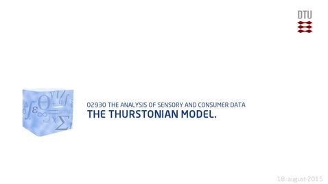 Thumbnail for entry The Thurstonian model.