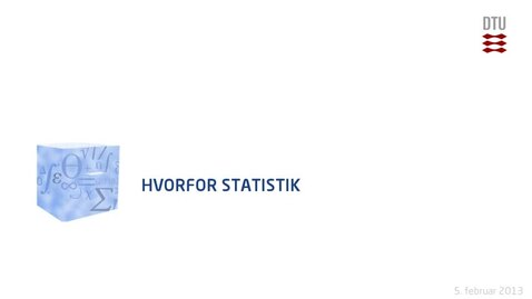 Thumbnail for entry Lec 1B: Hvorfor Statistik  (480p)