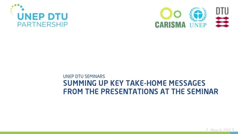 Thumbnail for entry Summing up key take-home messages from the presentations at the seminar