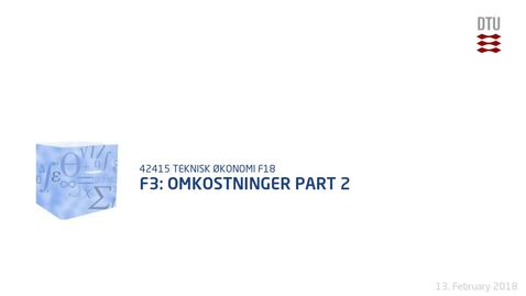 Thumbnail for entry F3: Omkostninger Part 2