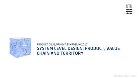 Thumbnail for entry System level design: product, value chain and territory