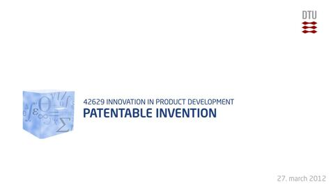 Thumbnail for entry 09-4/4: Patentable invention