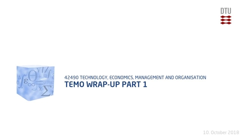Thumbnail for entry TEMO Wrap-up Part 1