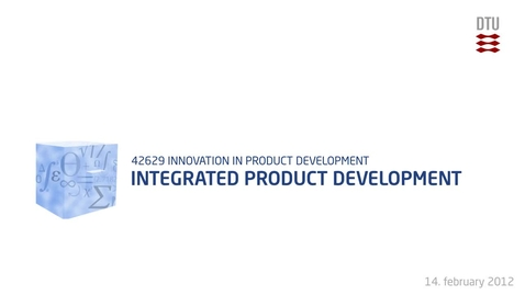 Thumbnail for entry 03-1/4: Integrated Product Development