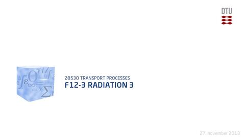 Thumbnail for entry F12-3 Radiation 3