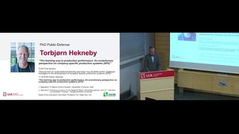 Thumbnail for entry Disputas Torbjørn Hekneby - 2021-08-19