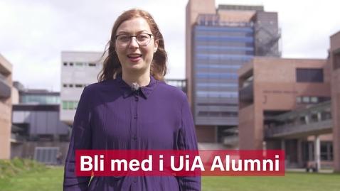 Thumbnail for entry Bli med i UiA Alumni (2020)