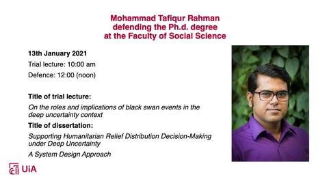 Thumbnail for entry Disputas Mohammad Tafiqur Rahman