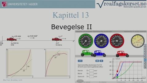 Thumbnail for entry Kapittel 13 Bevegelse II teori