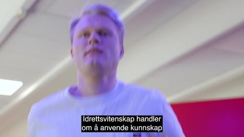 Thumbnail for entry Master i Idrettsvitenskap