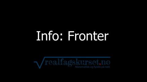 Thumbnail for entry Info: Fronter