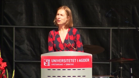 Thumbnail for entry Iselin Nybø tale i Grimstad
