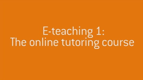 Thumbnail for entry 01 Welcome to E-teaching 1