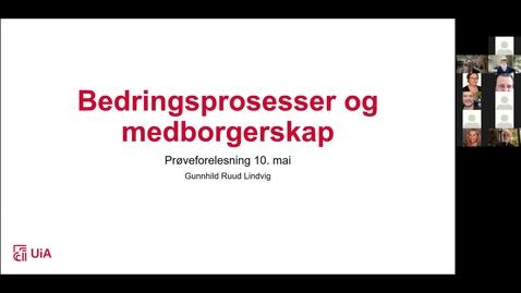 Thumbnail for entry Digital disputation 10.05.2021 – Gunnhild Ruud Lindvig