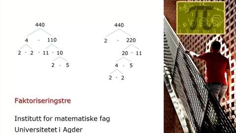 Thumbnail for entry Faktoriseringstre