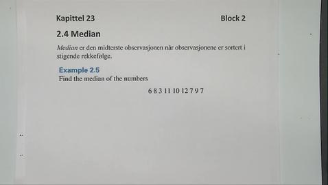Thumbnail for entry Kapittel 23 2.4 Median eksempler