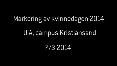 Thumbnail for entry Kvinnedagen_Kristiansand_2014