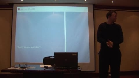 Thumbnail for entry Universitetslektor Halvard Øysæd fra fakultet for teknologi og realfag