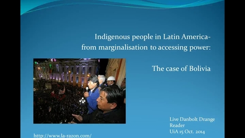 Thumbnail for entry Indigenous people in Latin America 15 oct 2014