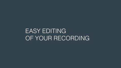 Thumbnail for entry Enkel redigering av opptaket ditt