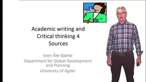 Thumbnail for entry Academic writing and Critical thinking 5 - Analytical writing