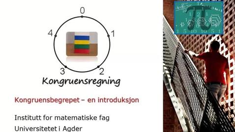 Thumbnail for entry Kongruensbegrepet (4) - kongruensregning