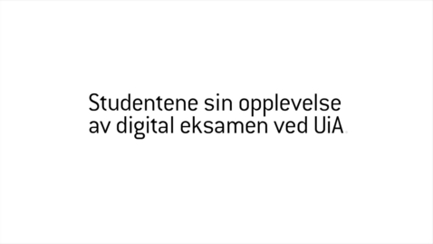 Thumbnail for entry Studenter om digital eksamen.