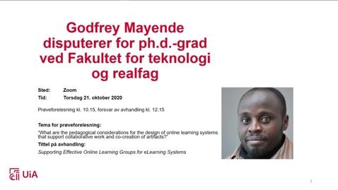 Thumbnail for entry Disputas Godfrey Mayende