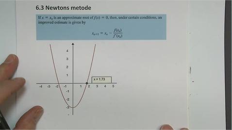 Thumbnail for entry Kapittel 16 6.3 Newtons metode