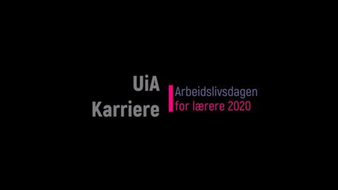 Thumbnail for entry Arbeidslivsdagen for lærere 2020