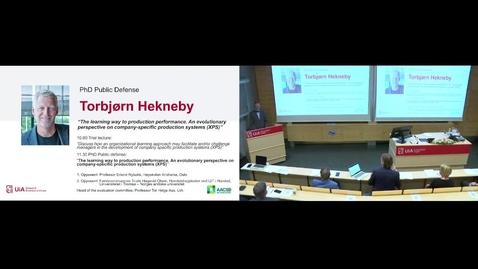 Thumbnail for entry Disputas Prøveforelesning Torbjørn Hekneby - 2021-08-19