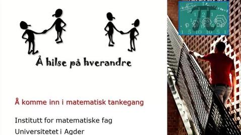 Thumbnail for entry Å hilse på hverandre