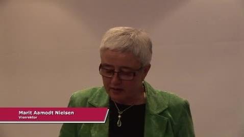 Thumbnail for entry Marit Aamodt Nielsen innleder