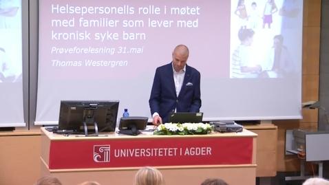 Thumbnail for entry Thomas Westergren - Prøveforelesning - 31mai 2017