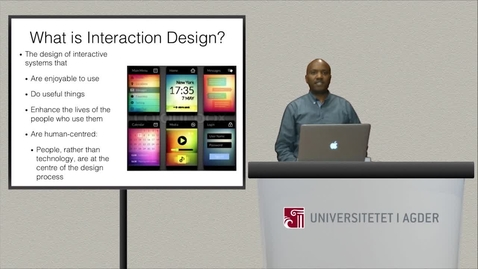 Thumbnail for entry Introduction to Course MM-403-G Interaction Design